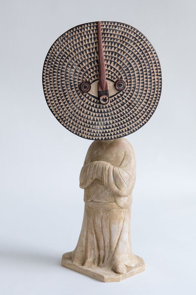 Xu Zhen 徐震, 'Evolution-Standing Female Attendant, Bwa Bobo Mask', 2017