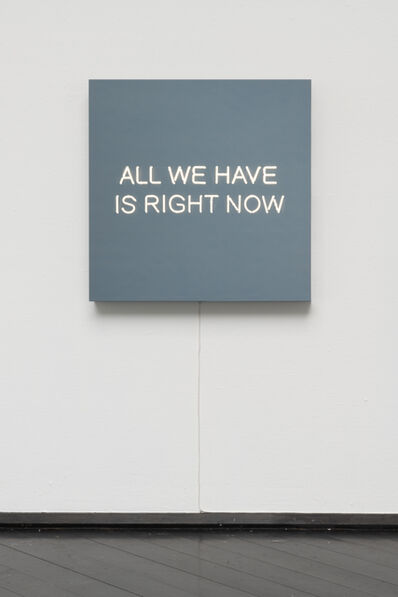 Jeppe Hein, 'ALL WE HAVE IS RIGHT NOW', 2016