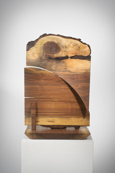 Betty McGeehan, 'Minimal Wood Abstract Sculpture: 'Double Crosser'', 2015-18