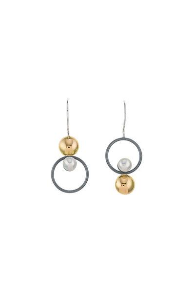 Janis Kerman, 'Assymetrical Pearl Earrings '