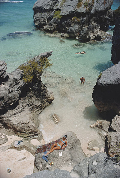 Slim Aarons, 'On The Beach In Bermuda, 1967: Sunbathing and swimming at a beach in Bermuda', 1967