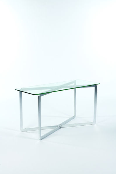 Michel Boyer, 'Table or console in glass and aluminium', 1968