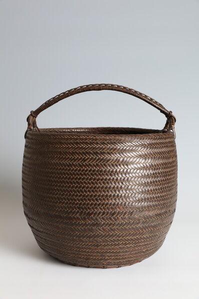 Iizuka Hosai II, 'Handled Flower Basket (T-4361)', Showa era (1926, 1989), 1930s