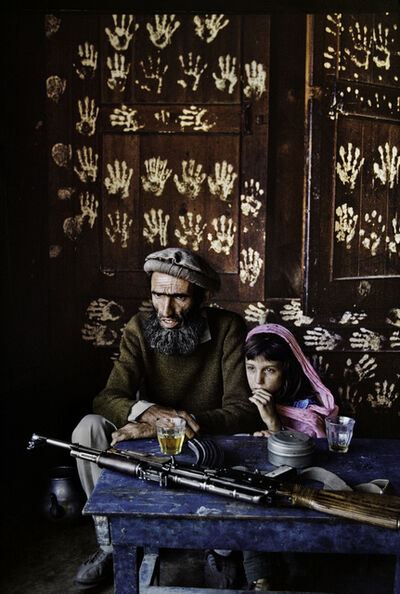 Steve McCurry, 'FATHER AND DAUGHTER AT HOME IN NURISTAN, 1992', 1992