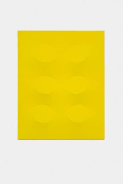 Turi Simeti, 'Sei ovali gialli', 2015