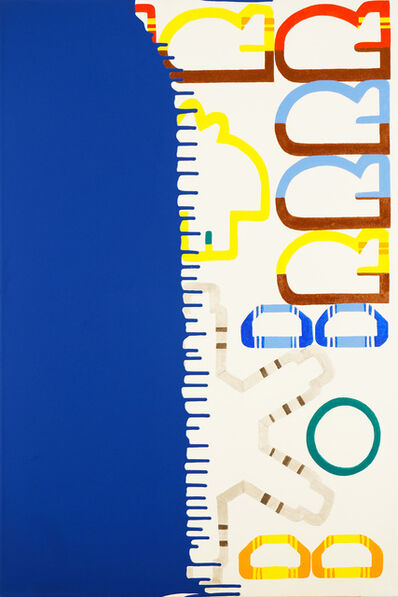 Mina Cheon, 'Dip and Drip: Klein Blue Dream Painting 15', 2017
