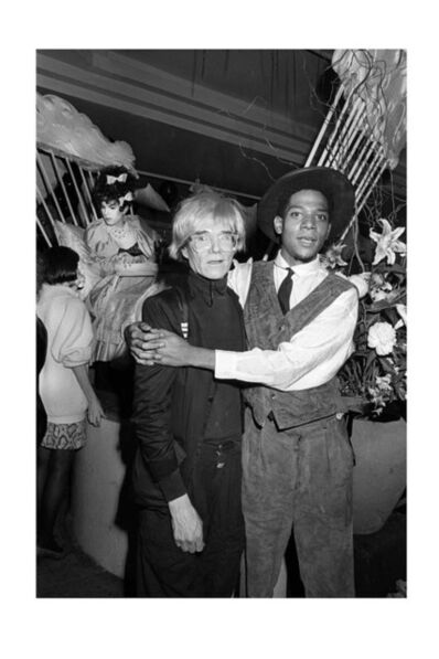 Ben Buchanan, 'Andy Warhol and Jean-Michel Basquiat at AREA, NYC, 1985', 1985