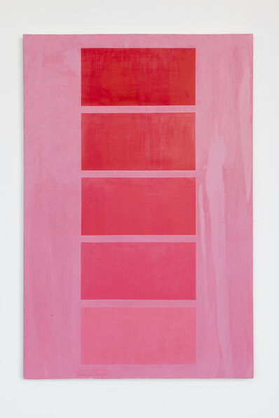 David Diao, 'Pink is Red Fading', 2012