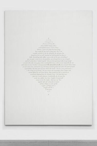 Jorge Méndez Blake, 'Carta a Milena (Berlin, 25 de diciembre de 1923) II / Letter to Milena (Berlin, December 25th, 1923) II', 2019