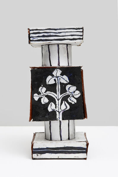 Elisabeth Kley, 'Small Assembled Square Tile Stack with Flowers and Hourglass', 2017