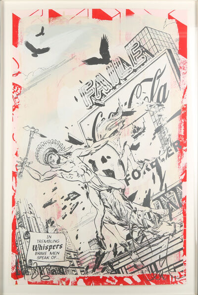 FAILE, 'In Trembling Whispers (On Red)', 2008