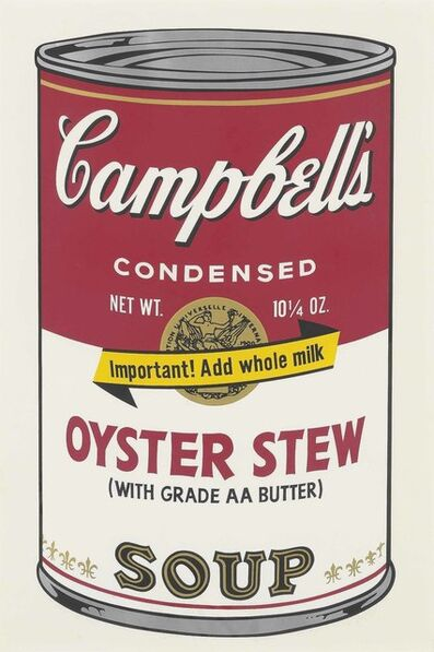 Andy Warhol, 'Oyster Stew, from: Campbell's Soup II', 1969