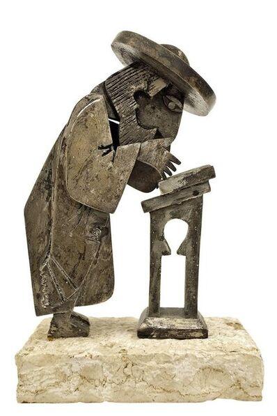 Frank Meisler, 'Rare Vintage Israeli Judaica Rabbi Praying Mechanical Sculpture', 1960-1969