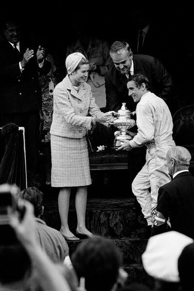 Jesse Alexander, 'Jackie Stewart Recieves Winner's Trophy from Princess Grace and Prince Rainier of Monaco', 1966