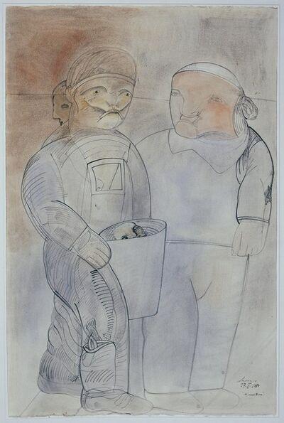 Jose Luis Cuevas, 'Los Muerteros I', 1983