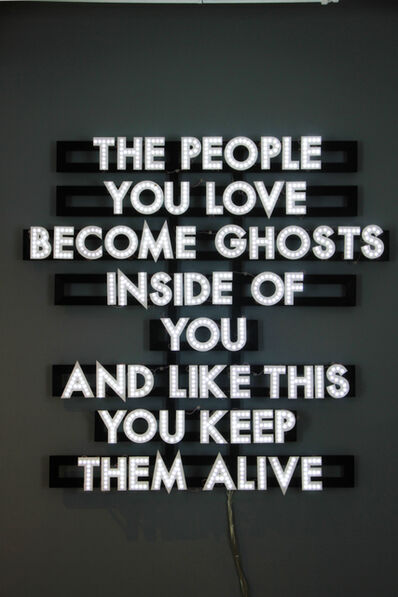 Robert Montgomery, 'People You Love', 2013