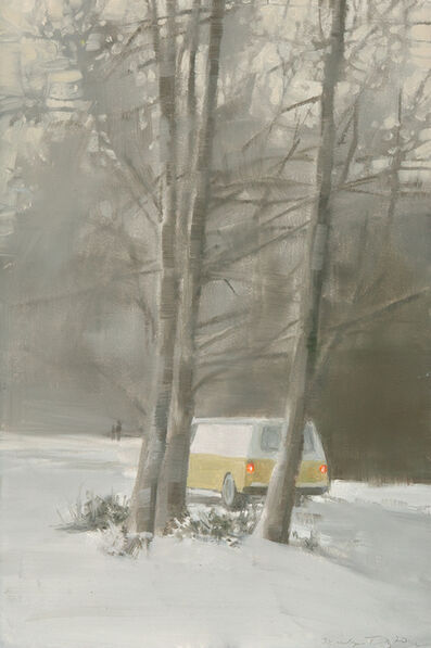 Marilyn Turtz, 'Yellow Van in Snow'