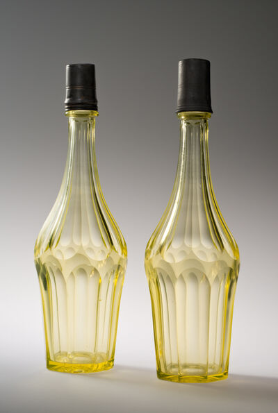 Unknown Maker, 'Pair of Bar Bottles and Caps', early to mid-19th century