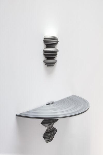 Sebastian Brajkovic, 'Lathe Sconce & Console (Small Silver)', 2013