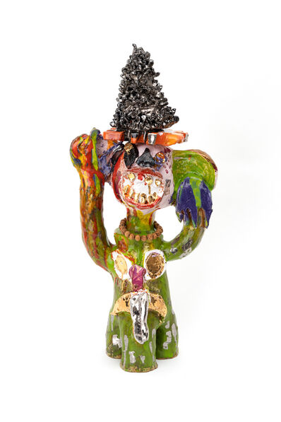 Ramesh Mario Nithiyendran, 'Monkey with silver mask', 2019