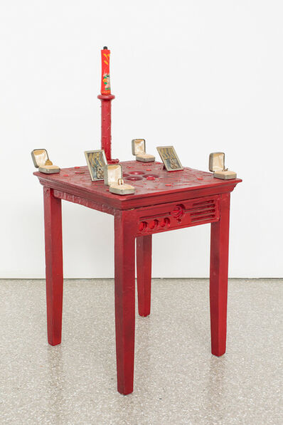 Betye Saar, 'Red Table', 1983