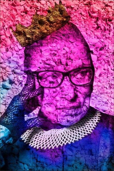 Isack Kousnsky, 'Ruth Bader Ginsburg in Rainbow Seashells', 2020