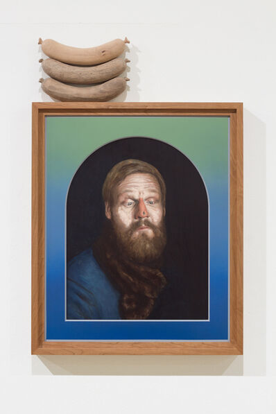 sebastian neeb, 'Trying the trick with the powdered face- stare off with a fly watched by a Wurst', 2017
