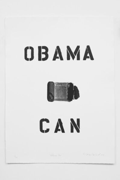 Nari Ward, 'Obama Can', 2017