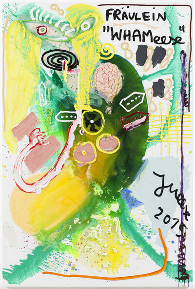 "Jonathan Meese, '""HALLO, SCHNIED' SCHNIEDELLION IS BACK, WIE PIGGY PIGGDIRN...""', 2015"
