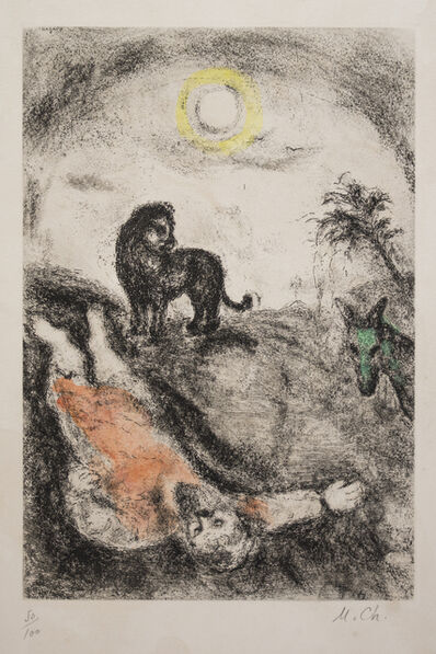 Marc Chagall, 'Prophet Killed by a Lion', 1956
