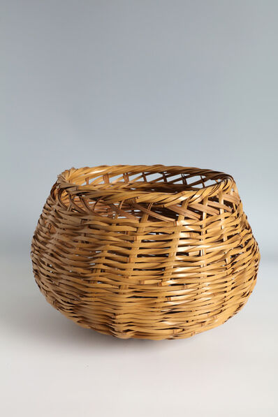 "Iizuka Rōkansai, '""Fisherman"" Flower Basket (T-4251)', 1927-1930"