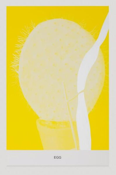 John Baldessari, 'The Yellow Series: Egg', 2016