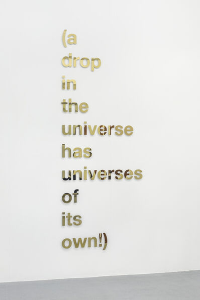 Carlos Noronha Feio, '(a drop in the universe has universes of its own!)', 2018