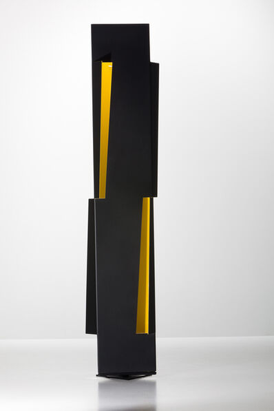 Juan Mejía, 'Totem No.2 - Black / yellow', 2012