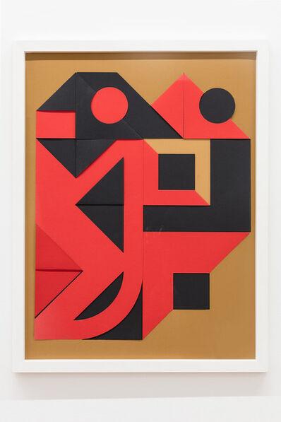 Enrico Castellani, 'Nero - rosso', 1999