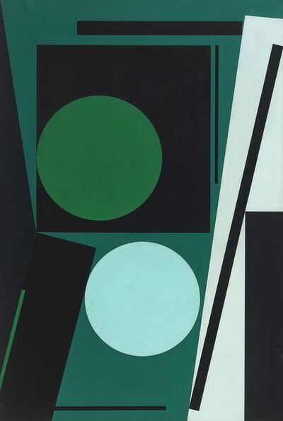 Günter Fruhtrunk, 'Zwei Kreise', 1958-1963