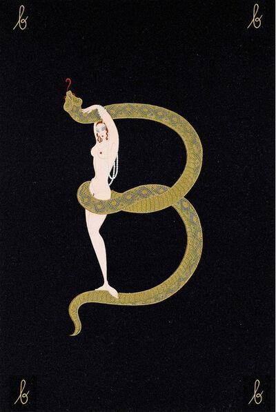 Erté (Romain de Tirtoff), 'Letter B Alphabet', 1976