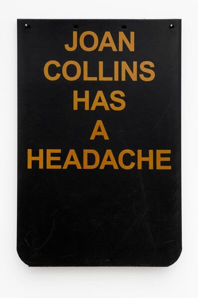 "Cary Leibowitz (""Candy Ass""), 'Joan Collins Has a Headache (Gold)', 2019"
