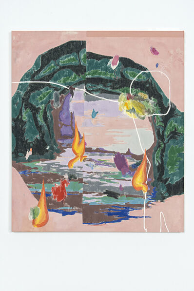 Chris Hood, 'Split Cave (Pink Version)', 2019