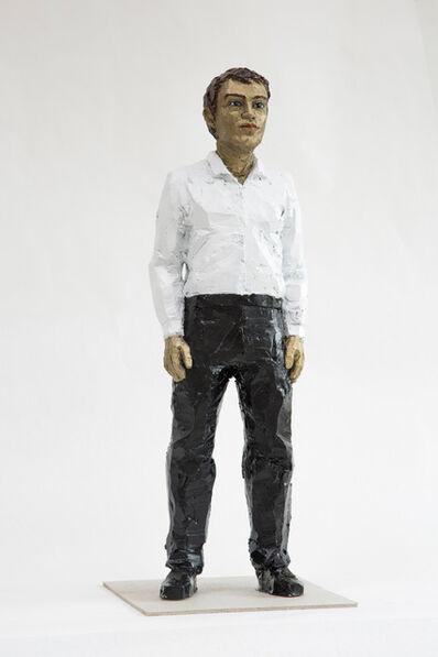 Stephan Balkenhol, 'Mann mit weißem Hemd und schwarzer Hose', 2018