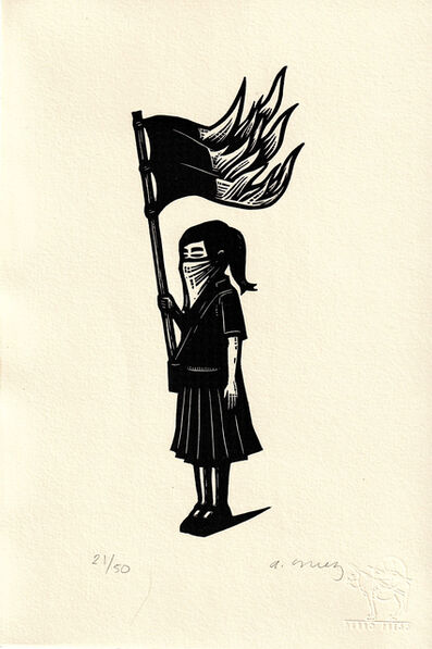 Alberto Cruz, 'Untitled (Niña Con Bandera)', 2019