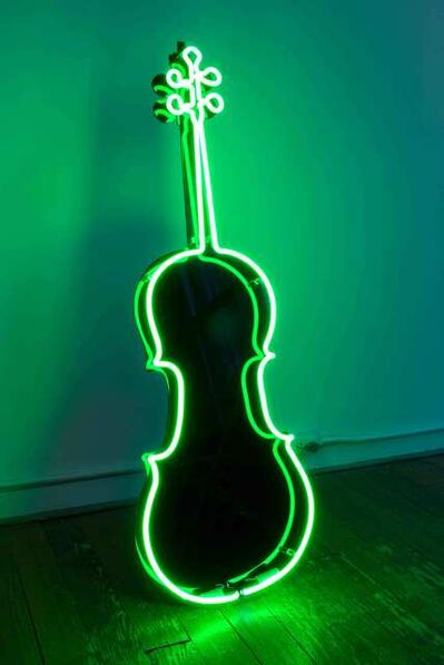 Charlotte Moorman, 'Neon Cello', 1989