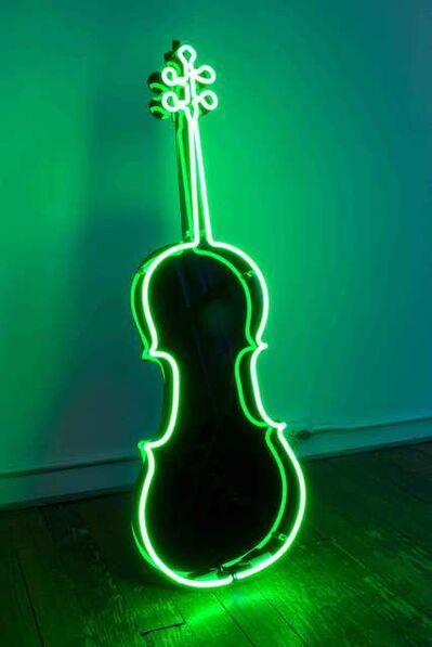 Charlotte Moorman, 'Neon Cello', 1989