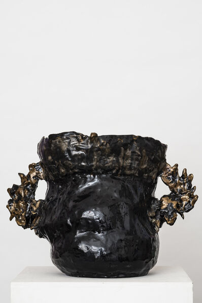 Emiliano Maggi, 'Double Fight vase (Double Cock vase)', 2018