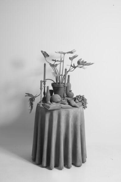 Hans Op de Beeck, ''Vanitas Table (plant)'', 2017