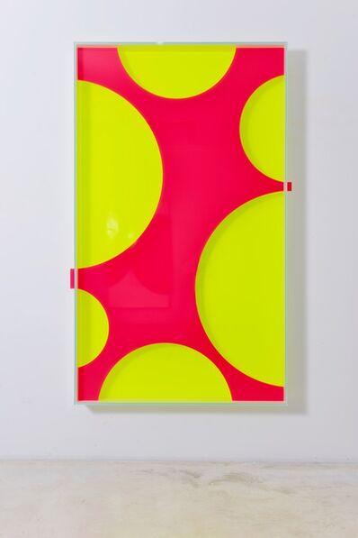 Regine Schumann, 'Colormirror mesh  red', 2021