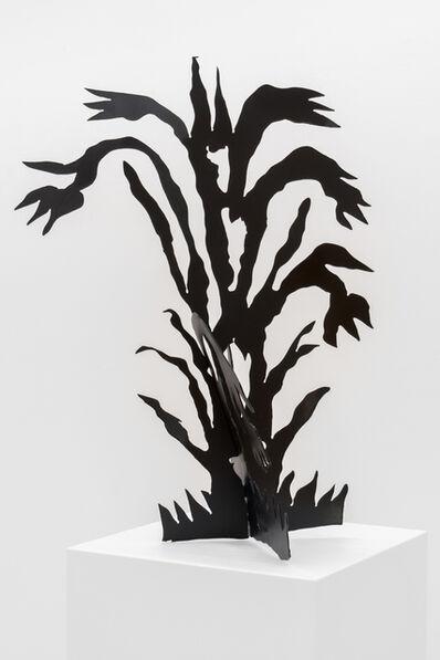 Margot Klingender, 'The Window, the Wall (Black flowers)', 2019