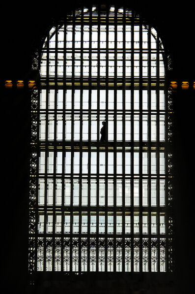 Mitchell Funk, 'Grand Central Ctation Window Walkway with Single Sihouetted Soul ', 2010