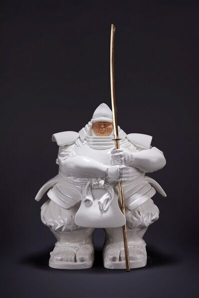Matteo Pugliese, 'Samurai Guardian (Ceramic, White)', 2020