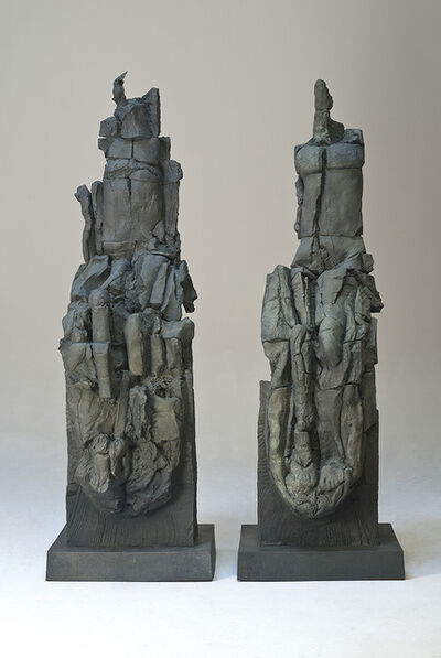 Stephen De Staebler, 'Seated Woman and Man Bisected, 2/4', 1981